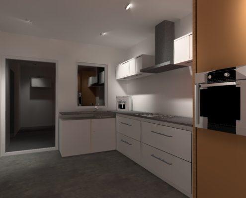Keuken met spots