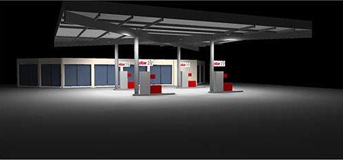 Benzinestation Luxemburg