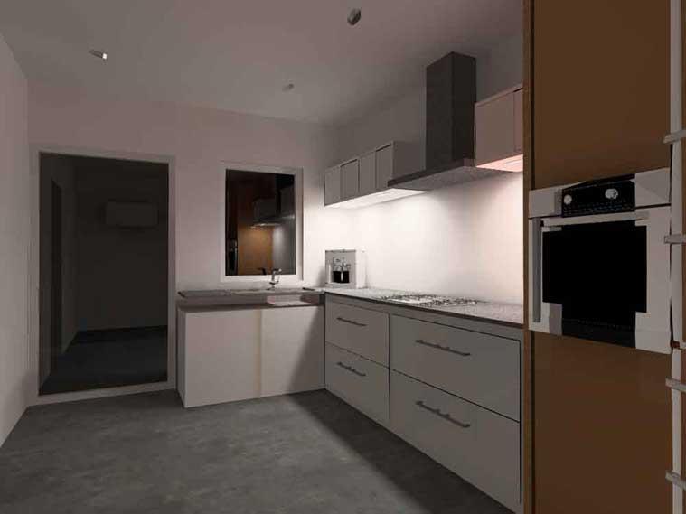 Keuken met direct licht