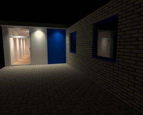 Workshopruimte lichtplan